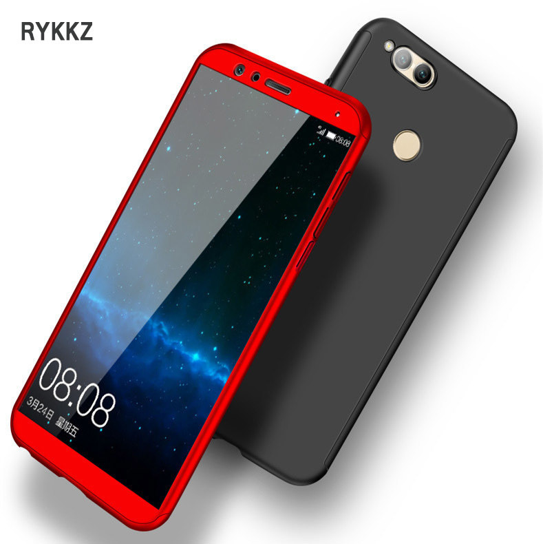 on sale 8bbba c5181 360 Full Cover Protection Case For Huawei Honor 7x Cover On Coque Huawei  Honor7x 7 X Phone Cases With Tempered Glass