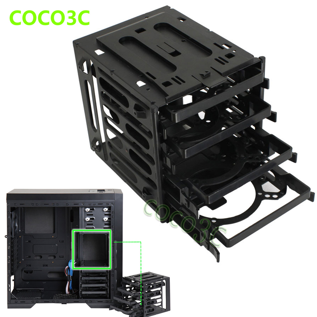 "4 Bays Drives Protective Case Box For 2.5"" 3.5"" SATA SAS IDE HDD Enclosure external SSD Storage Cabinet"