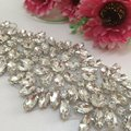 Diamante Sweet Heart Rhinestone Bridal Sash Applique Bridal Dress Wedding Applique Belt