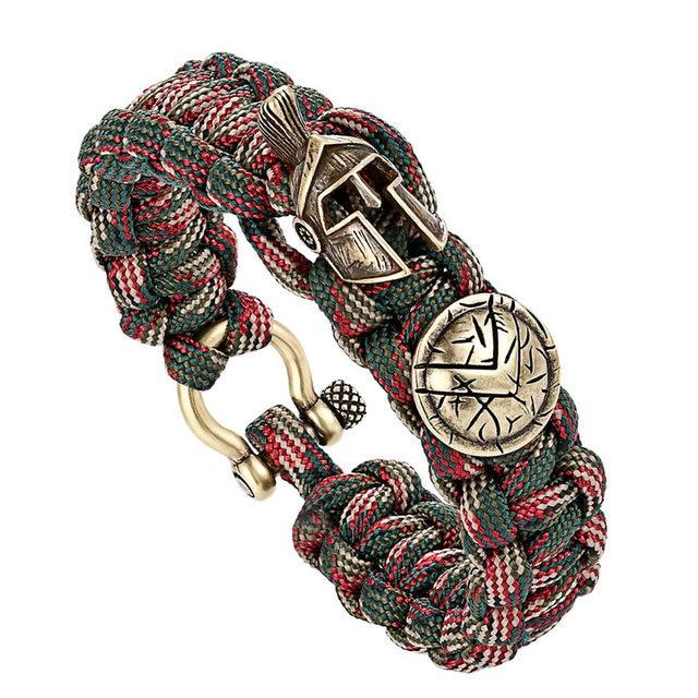 Мужской браслет для выживания janeyacy из нейлона с зонтиком