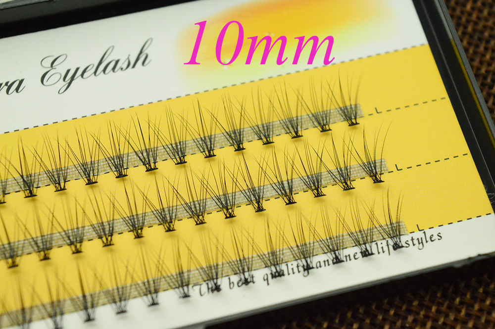 HTB1xTKtoCtYBeNjSspaq6yOOFXac 60 pcs/lot 10D Handmade natural eyelash extension individual lashes nakeds make up eyelash cluster false fake wispies eyelashes