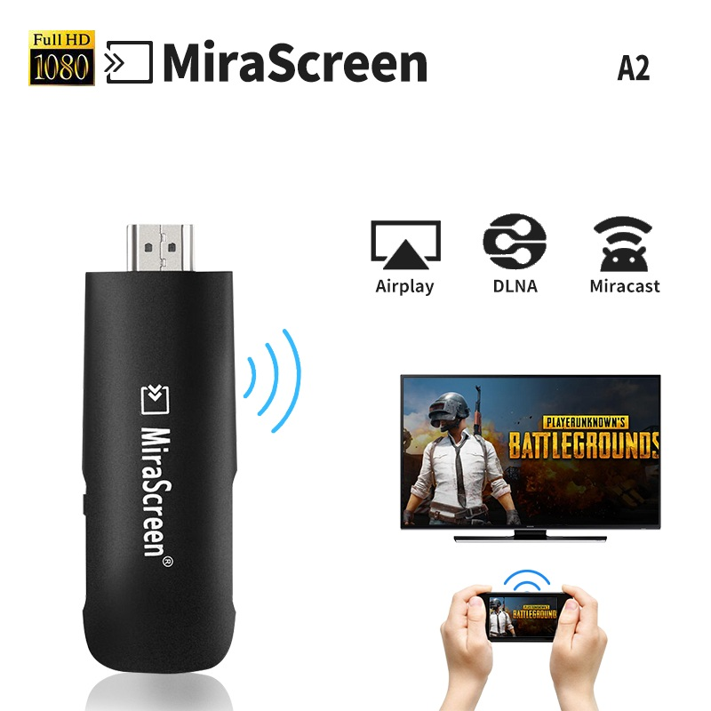 A2 Wireless HDMI Dongle Mirascreen Airplay DLNA Miracast Adapter Mini PC Android TV stic ...