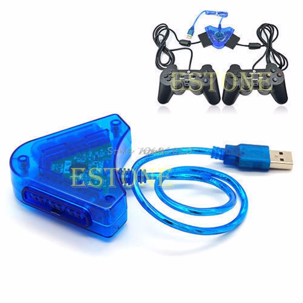 For PS2 PSII DDR Playstation to USB PC Adapter Converter N Z09 Drop ship