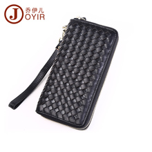 2017 New Genuine Leather Men Long Wallet Clutch Casual Money Card Holder Handbag Vintage Zipper Coin Purse Wallet For Man 9362
