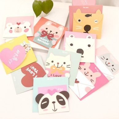 South Korean Style Cute Bear Greeting Card Birthday Card Card
