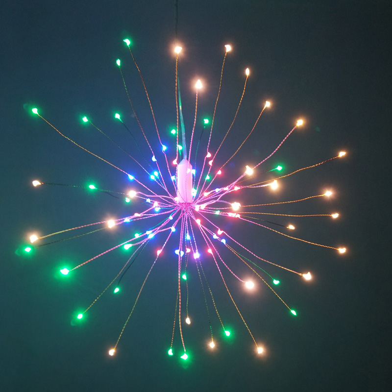 Праздничный подвесной светильник со звездами s 100-200 светодиодов DIY фейерверк медная гирлянда Рождественский светильник s уличный мерцающий светильник - Испускаемый цвет: multicolor
