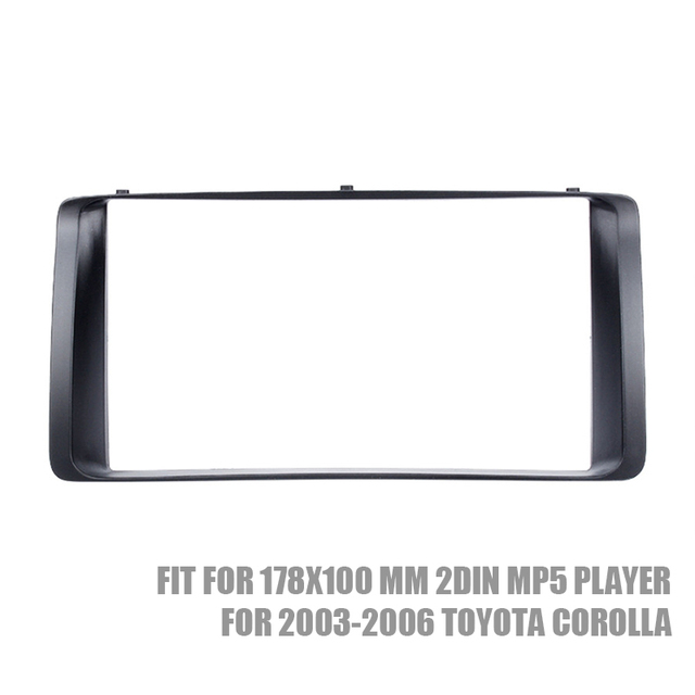US $12 89  Classic 2DIN Car Radio Fascia Stereo Dash Trim Kit for 2003 2006  Toyota Corolla CD Trim Bezel Audio frame-in Car Multimedia Player from