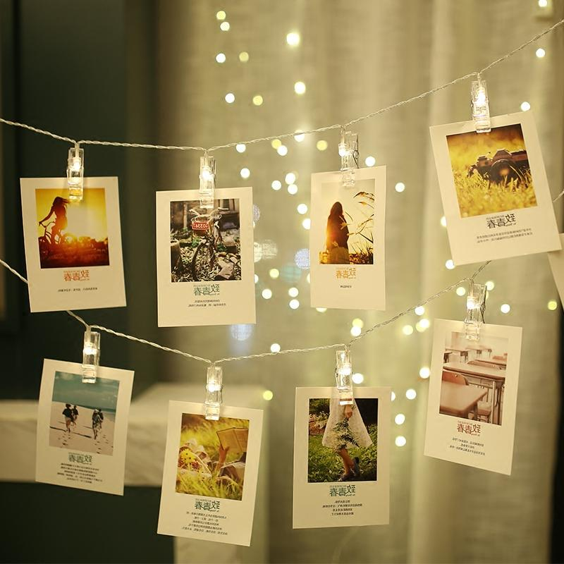 1.5M/3M/6M Card Photo Clip Lights Sting Lamp Party Wedding Home Decoration room decoration photo wall decorative lights