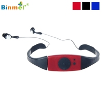 Binmer新しいホット販売良い品質ファッション4グラム4ギガバイト防水mp3音楽プレーヤー用水泳スパドロップ無料高品