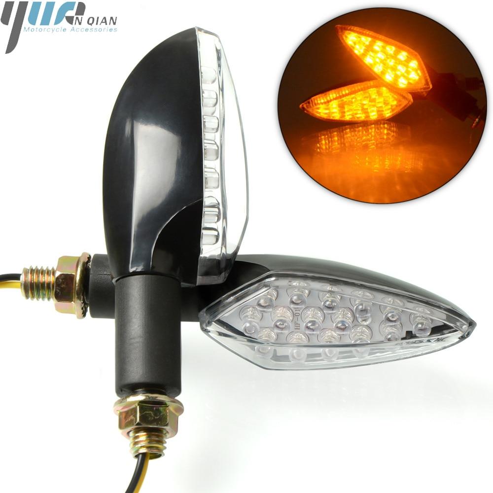 Motorcycle Turn Signal Indicators Lights LED For Kawasaki ZX6R ZX7R ZX10R ZX14R NINJA650R Z800 Z1000 Z900 Z750 For Honda Yamaha