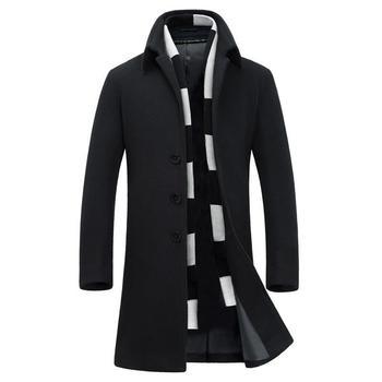 Sobretodos Abrigo Hombre Sobretudo Masculino Casaco Comprido Long Jaket Men Winter Hiver Slim Fit Korean Wool Uzun Woolen Coat 1