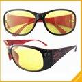 FS8018 Пластиковая Рамка Цветочные Руки Желтые Линзы Ночного Вождения Солнцезащитные Очки Женщин