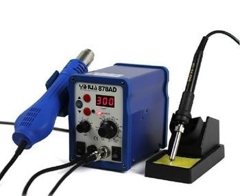 цена на 220V 700W YIHUA 878AD Constant Temperature Antistatic Soldering Station Solder Iron +Heat Element+Tweezer