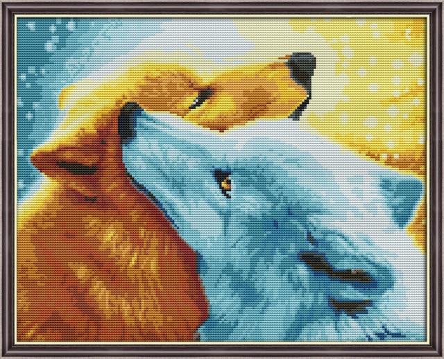 Snow fox Design Cross Stitch