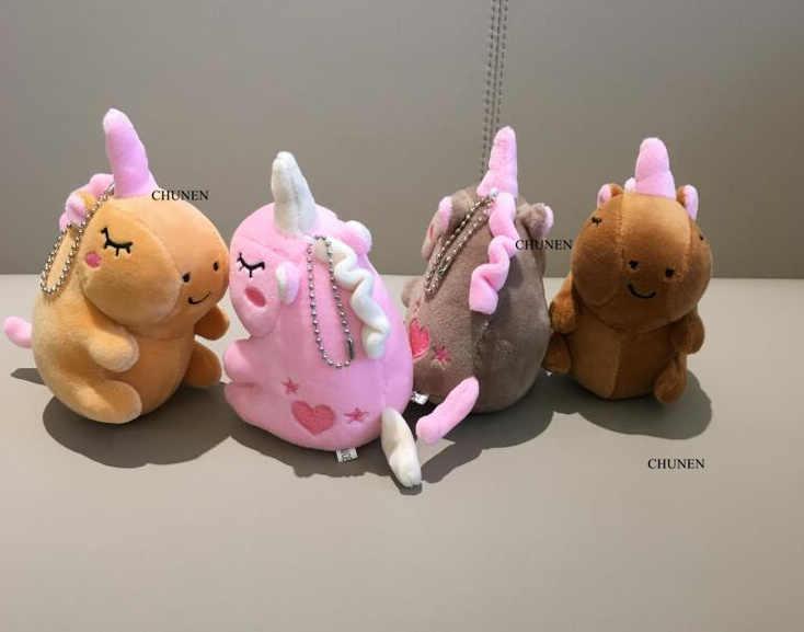 4Colors-Kawaii Cavalo De Pelúcia Boneca Brinquedos de Pelúcia, chaveiro de Pelúcia Brinquedos animais