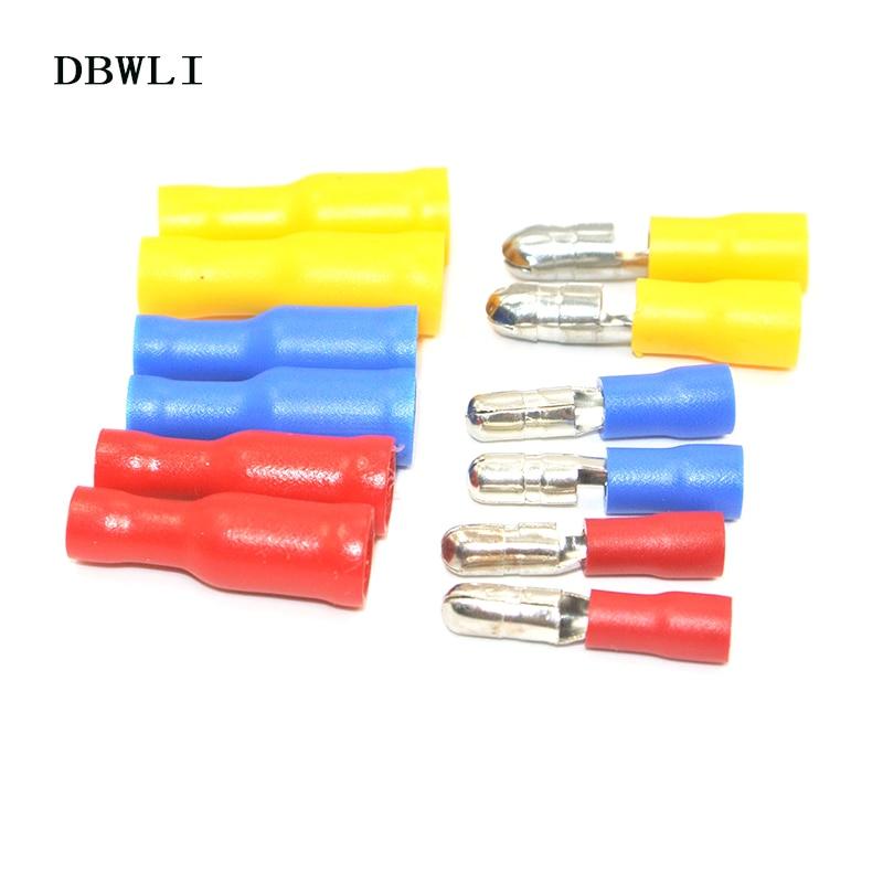 20 Mâle /& Femelle bleue Balle 2.5 mm connecteur ISOLÉ borne à sertir électrique