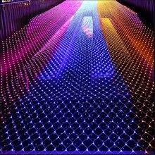 10 м X 1 м 220 В светодиодная сетка для парка, отеля, улицы, праздничное украшение для вечеринки, свадьбы, улицы, сказочный сад, гирлянда, светодиодная сетка