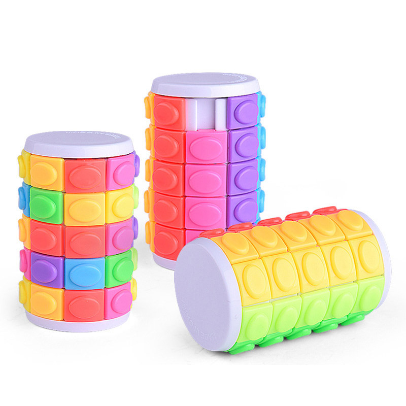 Educational Three-dimensional Puzzle Magic Cubes Tower Cube Five Layer Puzzle Decompress ...