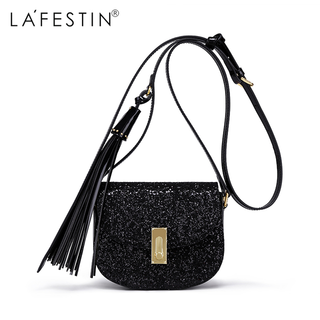 420e5d7209 LAFESTIN Brand Women Shoulder Bag Fringe Bling Bling Sequin Crossbody Bag  2018 Luxury New Bag bolsa feminina