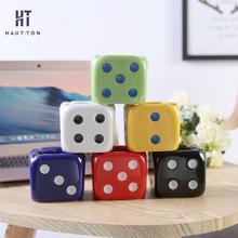 цена на Colorful Cute Dice Ashtray Smoking Holder Mini Decorative Home Ashtray Simple Creative Modern Ceramics Ashtray