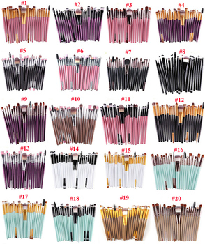 22 colors Pro 20pcs Makeup Brushes Set Eye Shadow Foundation Powder Eyeliner Eyelash Lip Make Up Brush Cosmetic Beauty Tool Kit