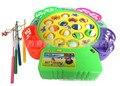 Электрический Рыбалка игрушка музыка рыбалка игрушки дети развивающие игрушки Четырех человек, чтобы играть вместе Осуществлять координацию рук и глаз