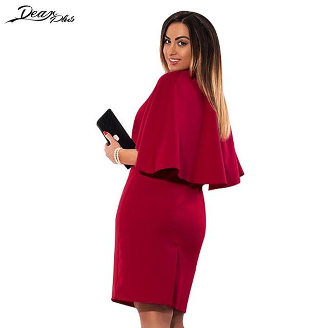 3e9950c4e1895 Elegant Plus Size Shawl Dress Women Solid Color Sleeveless Summer Dress  Slim Casual Office Pencil Big Size Dress 2 Piece Set