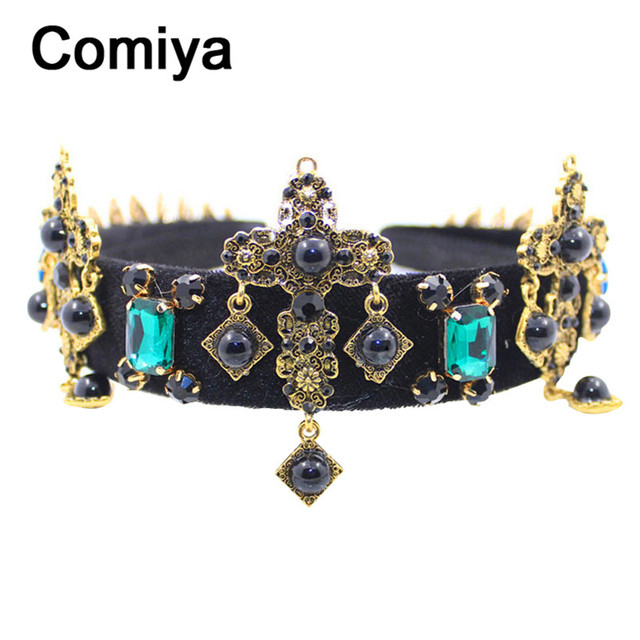 Barroco gothic ethnic accessories stone pendants crystal charms femme headbands hairgrips sticks feminino hair clasp jewelry