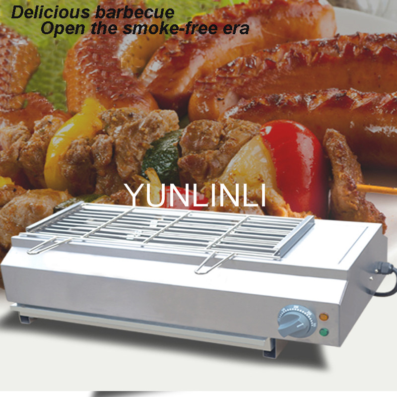 electrical barbecue grill smoke-free BBQ grill machine electric oven smokeless barbecue machine commercial BBQ oven FY-Q70 three groups of kebab ovens commercial electric oven machine