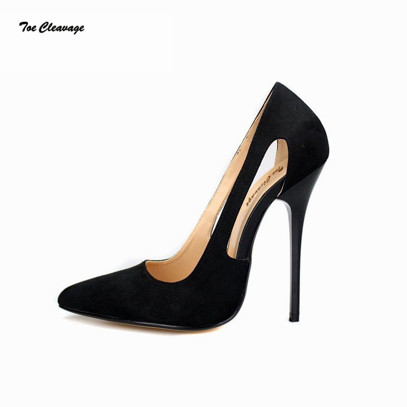 Toe Cleavage stilettos Shallow sexy shoes woman sexy Shallow 14cm Metal Thin ... 3b57a3