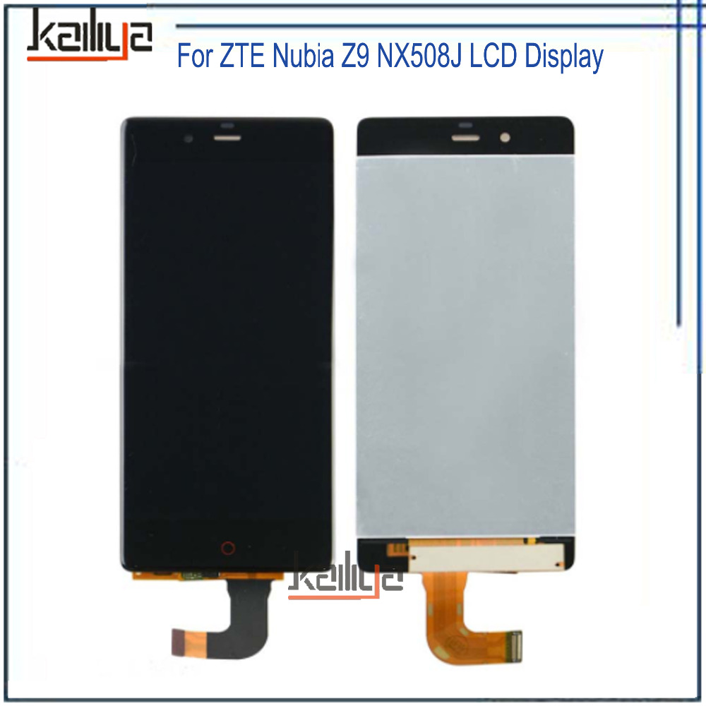 For ZTE Nubia Z9 NX508J LCD Display+5.2 Inch NEW Black Touch Screen Digitizer Assembly Replacement For ZTE Nubia Z9 NX508J