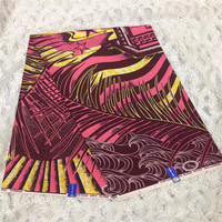 JSX!Top quality veritable block java print wax fabric for Garment/Pink and Black color Ankara wax with beautiful pattern! L71815
