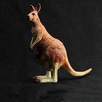 3D Soft PVC Australian kangaroo Mother and Baby Animal Model Toys Christmas Learning Educational Kids Toys for Boys Children