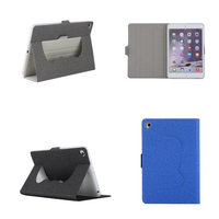 Cloth Grain PU Leather Smart Case For Apple Ipad Mini 1 Mini 2 Mini 3 Tablets