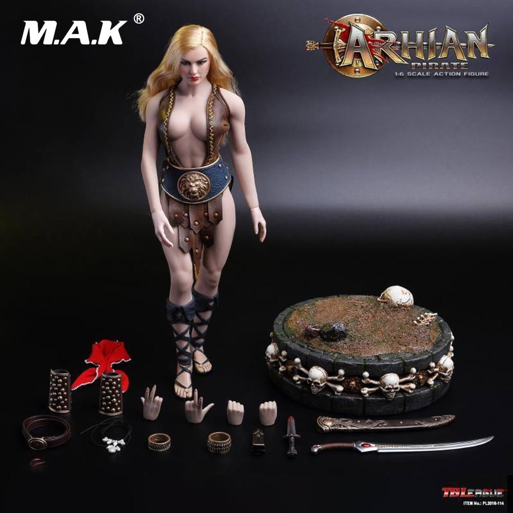 все цены на 1/6 Scale Full Female Action Figure TBLeague PL2018-114 Woman ARHIAN PIRATE Moving Figure Model for Collection