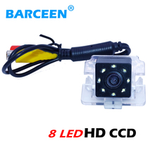 Available is stock hot sale 170 wide angle car rear camera glass lens material 8 beautiful led lights for Mitsubishi Outlander