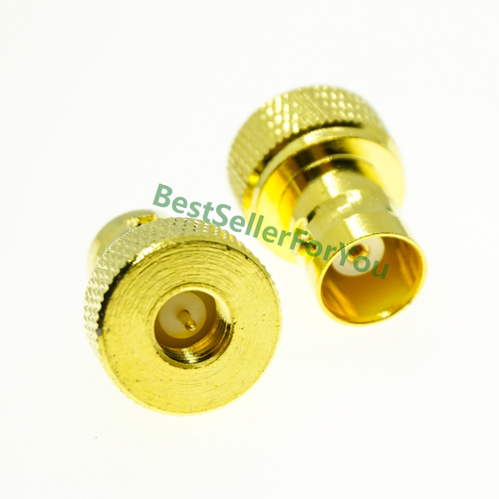 BNC Female To SMA Male Connector Antenna Adapter For Vertex Icom Kenwood Golden