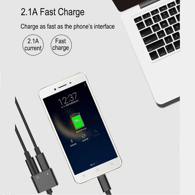 USB Type-C Audio Adapter 2 in 1 Type C to 3.5mm Headphone earphone Charging Converter For Xiaomi 6 huawei mate 10 Type C Devices
