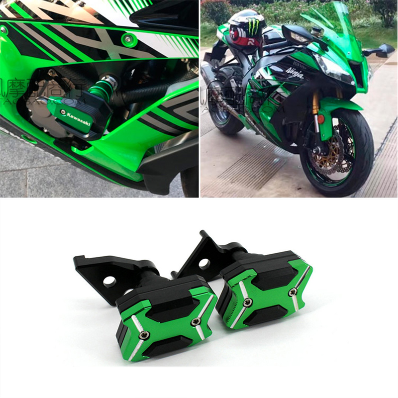 Motorbike ZX-10R Frame Sliders For Kawasaki ZX 10R 2015 2014 2013 2012 2011 Aluminum Body Protector Motorcycle Accessories gt motor motorcycle new cnc aluminum fuel gas caps tank cap tanks cover with rapid locking for kawasaki z1000 zx 10r zx 9r