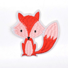 Fox Embroidered Clothing Patch Iron On Cute Fabric Sewing Applique for Jacket Clothes Badge DIY Apparel