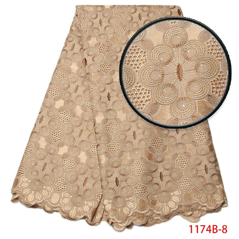 Tissu de dentelle africaine brodé noir nigérian mariée de haute qualité français suisse Voile dentelle tissu femmes robe de soirée GD1174B 4-in Dentelle from Maison & Animalerie    1