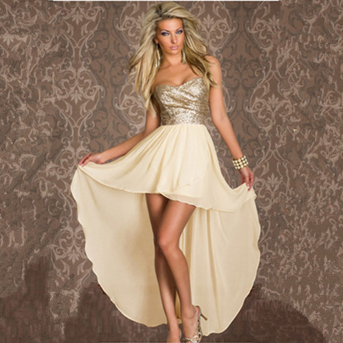 free shipping N015 sexy tube top sequin chiffon full dress women sexy clubwear dress