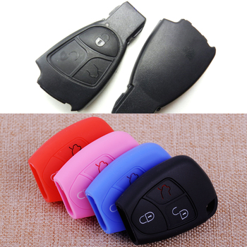 CITALL 3 Buttons Silicone Car Remote Key Cover Shell Case Fob Fit For Mercedes Benz C230 CL55 CL600 CL65 G500 CLK320 E300 E320 image