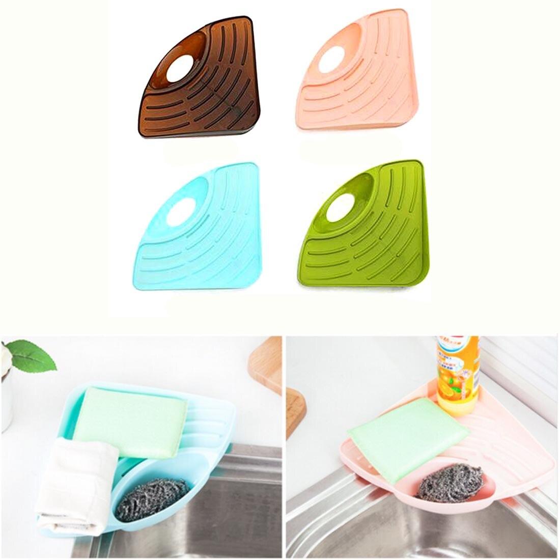 ツ)_/¯Alta calidad triangular del hogar estante de la esponja del ...