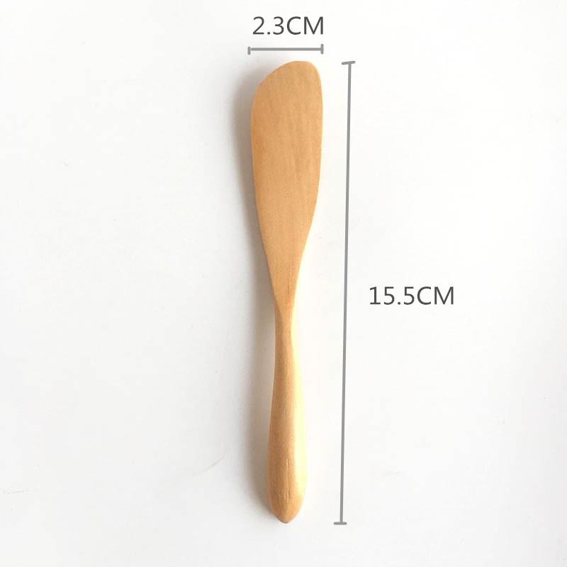 2 PCS ENSEMBLE Logarithme Naturel Spatule En Bois Cutters Couteau