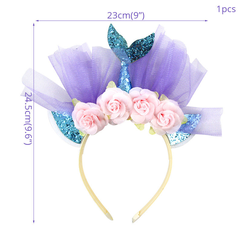 WEIGAO Little Mermaid Party Crown Headband Mermaid Tail Hat Photo Props for Girl 1st Birthday Party Mermaid Hair Accessories-in Party DIY Decorations from Home & Garden on Aliexpress.com | Alibaba Group