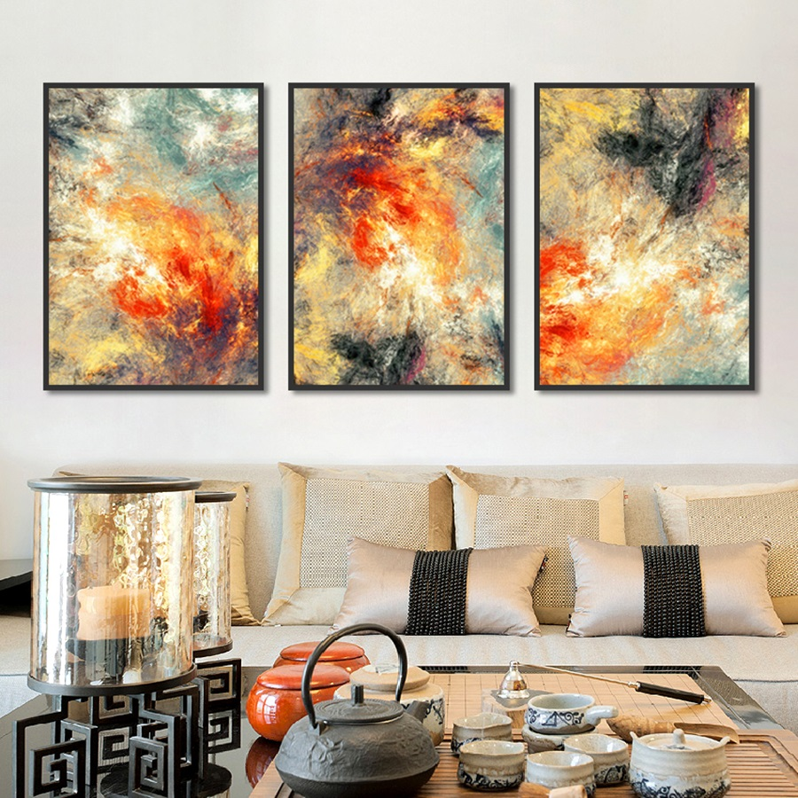 Blue Agate Picture Hd Print on Canvas Wall Art Picture for Living Room Nordic Style Kids Room Decoration Posters-50x70cm No Frame