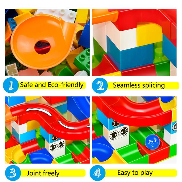 Toy building blocks set (104 pieces)