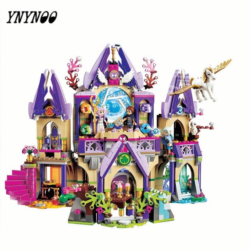 YNYNOO 10415 Elves Azari/Aira/Naida/Emily Jones Sky Castle Fortress Building Blocks Toy Gift For Girls Toy For Children BL095 roomble подсвечник aira rose