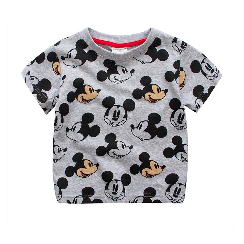 Children boys T-shirt cute cartoon tops kids 2018 Summer girls top tees cotton kids bebes Tshirt for 2-7 years old